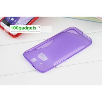 Силиконовый чехол S для HTC One 2 Фиолетовый