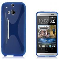 Силиконовый чехол X для HTC One 2 Голубой