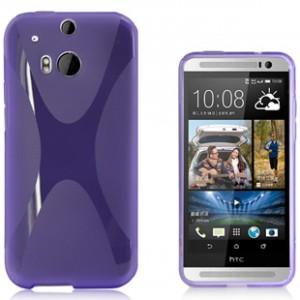 Силиконовый чехол X для HTC One 2 Фиолетовый