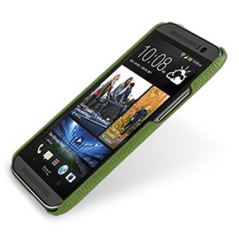 Кожаный чехол накладка серия Back Cover (нат. кожа) для HTC One 2 зеленая
