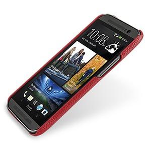 Кожаный чехол накладка серия Back Cover (нат. кожа) для HTC One 2 красная