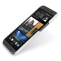 Кожаный чехол накладка серия Back Cover (нат. кожа) для HTC One 2 белая
