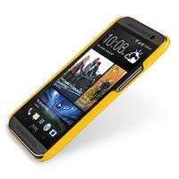 Кожаный чехол накладка серия Back Cover (нат. кожа) для HTC One 2 желтая