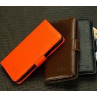 Кожаный чехол портмоне (нат. кожа) для HTC One Max