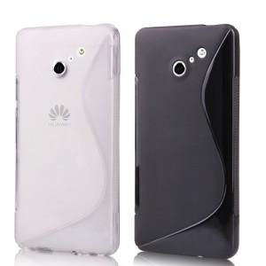 Силиконовый чехол S полупрозрачный для Huawei Ascend D2