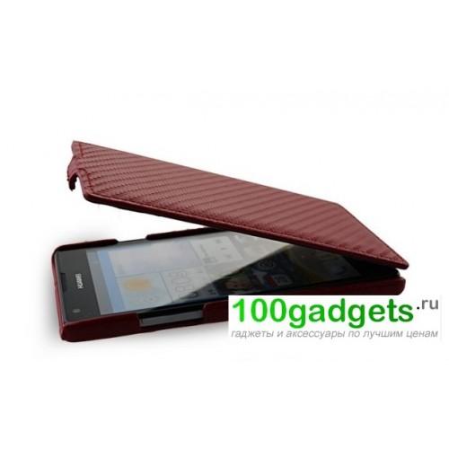 Чехол книжка вертикальная серия Carbon для Huawei Ascend G700