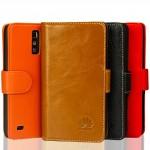 Кожаный чехол портмоне (нат. кожа) для Huawei Ascend G700