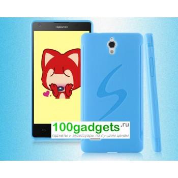 Силиконовый чехол S для Huawei Ascend G700 Голубой