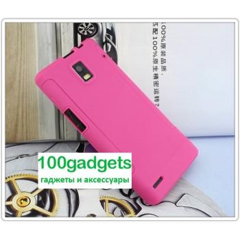 Силиконовый чехол для Huawei Ascend P1 Розовый