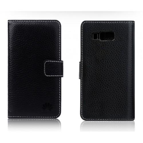 Кожаный чехол портмоне (нат. кожа) для Huawei Ascend W2
