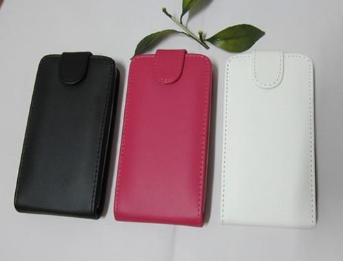 Кожаный чехол книжка для Alcatel One Touch Idol Розовый
