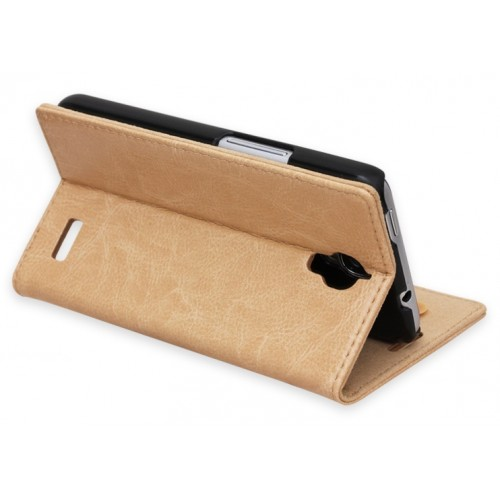 Кожаный чехол подставка для Alcatel One Touch Idol Розовый