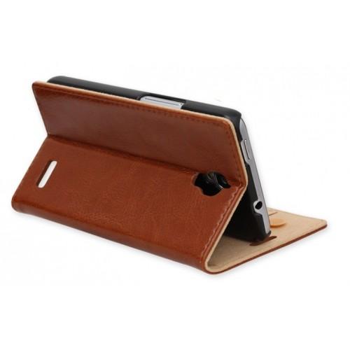 Кожаный чехол подставка для Alcatel One Touch Idol