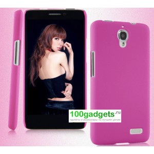 Пластиковый чехол для Alcatel One Touch Idol Розовый
