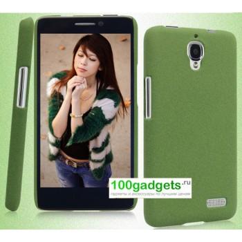 Пластиковый матовый чехол для Alcatel One Touch Idol Зеленый