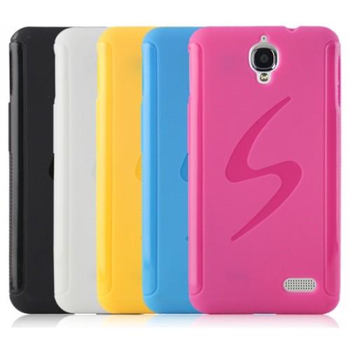 Силиконовый чехол S для Alcatel One Touch Idol Розовый