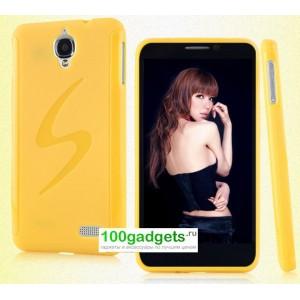 Силиконовый чехол S для Alcatel One Touch Idol Желтый
