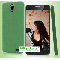 Пластиковый матовый чехол с повышенной шероховатостью для Alcatel One Touch Idol X Зеленый