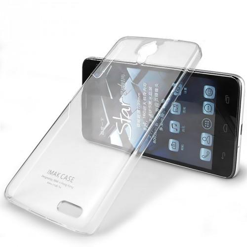 Пластиковый транспарентный чехол для Alcatel One Touch Idol X