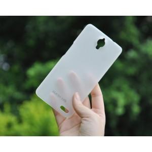 Пластиковый ультратонкий премиум чехол для Alcatel One Touch Idol X Белый