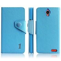Чехол портмоне для Alcatel One Touch Idol X Голубой