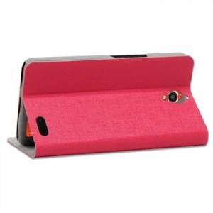 Чехол флип подставка для Alcatel One Touch Idol X Розовый
