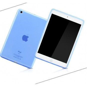 Силиконовый полупрозрачный чехол для Ipad Air Голубой