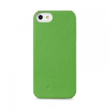 Кожаный чехол накладка Back Cover (нат. кожа) для Iphone 5c зеленая