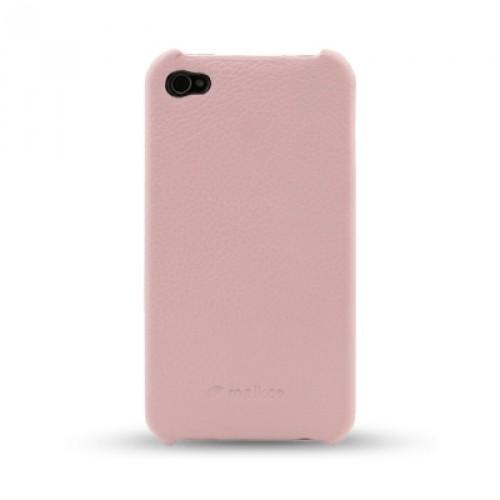Кожаный чехол накладка Back Cover (нат. кожа) для Iphone 5c розовая