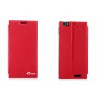 Чехол флип подставка клеевой серия Suction Power для Lenovo IdeaPhone K900 Красный