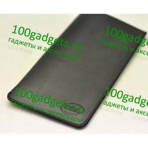Кожаный мешок для Lenovo K900 Черный