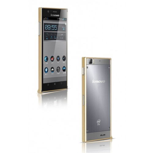 Ультратонкий металлический бампер для Lenovo IdeaPhone K900 Красный