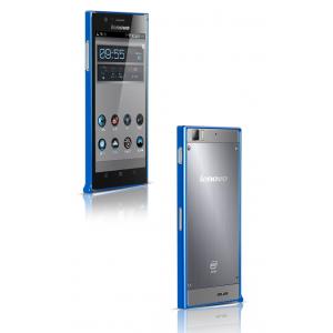 Ультратонкий металлический бампер для Lenovo IdeaPhone K900 Синий