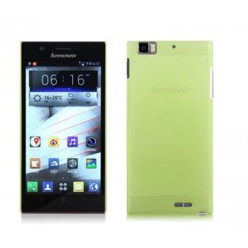 Пластиковый полупрозрачный чехол для Lenovo IdeaPhone K900 Зеленый