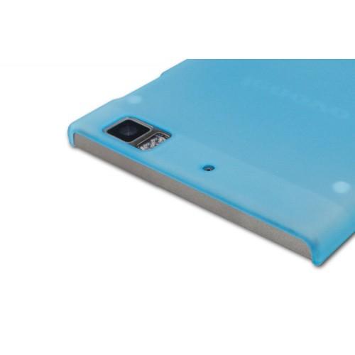 Пластиковый полупрозрачный чехол для Lenovo IdeaPhone K900 Голубой