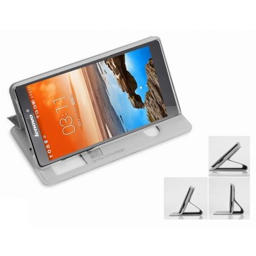 Чехол флип подставка с окном вызова и свайпом для Lenovo Vibe Z (K910)