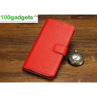 Кожаный чехол портмоне (нат. кожа) для Lenovo Vibe Z (K910) Красный