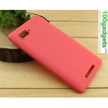 Пластиковый матовый чехол для Lenovo Vibe Z (K910) Красный