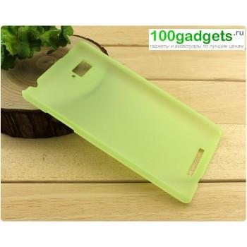 Пластиковый полупрозрачный чехол для Lenovo Vibe Z (K910) Зеленый