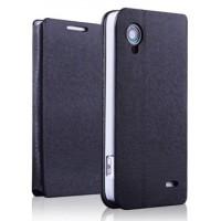 Чехол флип подставка текстурный для Lenovo IdeaPhone S720 Черный