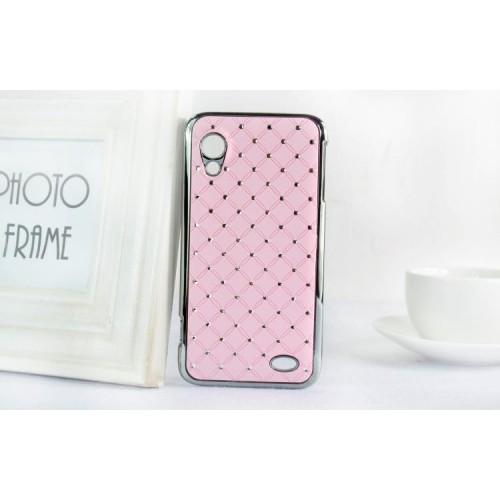 Чехол пластик/металл со стразами для Lenovo IdeaPhone S720 Черный