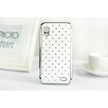 Чехол пластик/металл со стразами для Lenovo IdeaPhone S720
