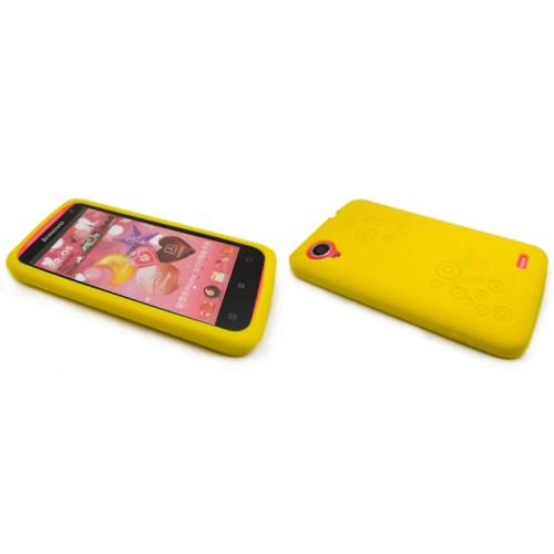 Силиконовый премиум чехол серия Circles для Lenovo IdeaPhone S720 Белый