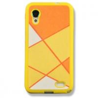 Силиконовый текстурный чехол серия Rays of light для Lenovo IdeaPhone S720 Желтый