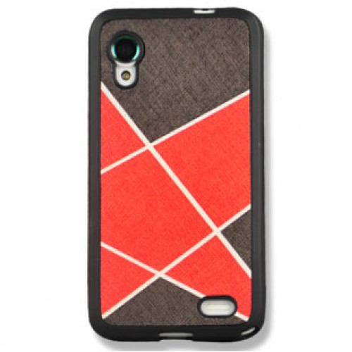 Силиконовый текстурный чехол серия Rays of light для Lenovo IdeaPhone S720 Черный