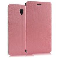 Чехол флип подставка текстурный на присоске серия Glossy Shield для Lenovo S860 Розовый