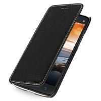 Кожаный чехол книжка горизонтальная (нат. кожа) для Lenovo Vibe X S960 черная