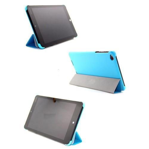 Чехол флип подставка сегментарный для Lenovo ThinkPad 8 Голубой