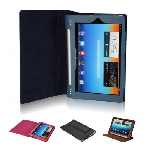 Чехол подставка с полной защитой корпуса Full Cover для Lenovo Yoga Tablet 8 Синий
