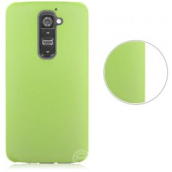 Пластиковый полупрозрачный чехол для LG Optimus G2 Зеленый